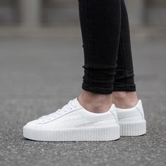 b7df0c87b51c PUMA Rihanna Fenty Creepers Glo White Trainers SNEAKERS Size Uk5.5 Eur38.5  Us8