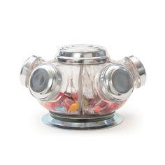 Vintage Revolving Candy Jars by Restoration Warehouse. Jar Cookie, Restoration Warehouse, Candy Stand, Vintage Candy, Vintage Decor, Vintage Items, Decorated Jars, Canister Sets, Canisters