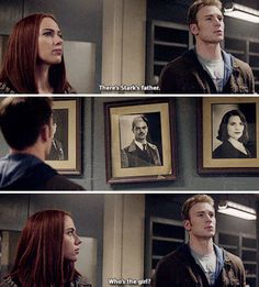 You know, I wonder why she said this; I mean, she has read every case file ever and she knows the names of everyone else, wouldn't she know one of the main founders of SHIELD!?? <<because maybe she wanted to see Steve's reaction. Maybe she wanted to know if he was so reluctant to find someone else because he still cares deeply for Peggy. Maybe she wanted to test him, to see how much he still loves in spite of everything he lost