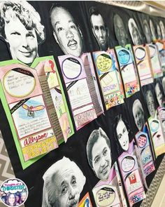 Print out famous people's heads and use for a biography report. Love this writing idea for third and fourth grade.