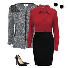 Para combinación ideal para ir por un aumento. #Moda #Oficina