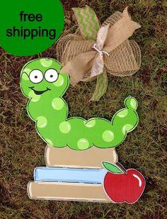 Back to School door Hanger Custom door by Furnitureflipalabama, $30.00