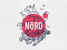 l - NõRD logo design for bold restaurand branding with nautic vibes! Ines l - NõRD logo design for bold restaurand branding with nautic vibes!,Ines l - NõRD logo design for bold restaurand branding with nautic vibes! Logo Restaurant Design, Restaurant Design Vintage, Vintage Design, Restaurant Identity, Menu Restaurant, Logo Inspiration, Nautical Logo, Nautical Design, Creative Logo