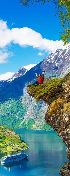 Flydalsjuvet en el fiordo Geranger, Noruega