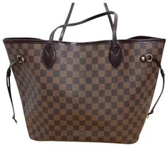 Louis Vuitton Neverfull Mm + Lv Duster Damier Ebene Leather and Canvas Tote  17% off retail cb928018a8