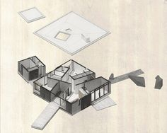 Image 28 of 28 from gallery of House Nº1 in Curacavi   / Felipe Combeau  + Pablo Alfaro. Exploded Axonometric