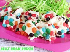 Jelly Bean Fudge with JOLLY RANCHERS Jelly Beans #BunnyTrail