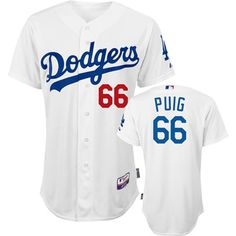 Yasiel Puig Los Angeles Dodgers Authentic Home White Baseball Jersey #dodgers #mlb #ladodgers