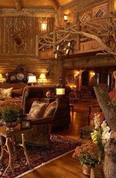 Rustic living room.