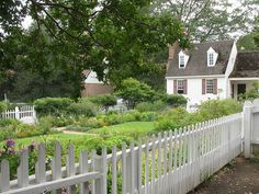 Colonial Williamsburg- I would love to have a yard with different gardens...flowers, herbs, veggies, everything!