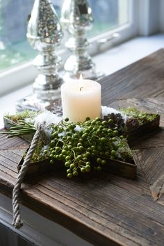 Use a star or heart shaped tin and fill in with greens!  Riviera Maison
