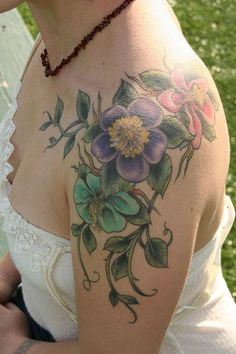 love the flowers, wouldn't mind them being more realistic, love the placement, then trailing down my back.