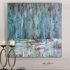 Art - Uttermost Blue Waterfall Art | UTT-32240 | 792977322406| $195.80. Buy it today at www.contemporaryfurniturewarehouse.com