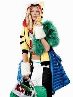 Iselin Steiro by Josh Olins for Vogue UK October 2014 - Inspiration by Color