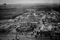 جامعه القاهره 'جامعه فؤاد الأول سابقاً' وأهرامات الجيزه-مصر سنه ١٩٥٩ Cairo University Campus 1959