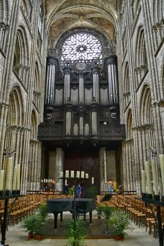Rouen ~ Normandy ~ France ~ The organ of the Cathedral of Notre-Dame of Rouen.
