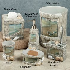 Lighthouse Bathroom Decor | Home At the Beach Lotion Soap Dispenser