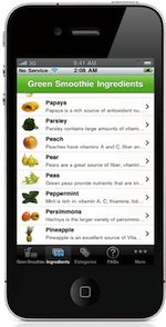 Green Smoothie iPhone App & Recipes