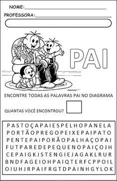 Dia dos Pais - Atividades Infantis para imprimir A30, Comics, Memes, First Day Of Class, First Year, Index Cards, Comic Book, Comic Books, Comic