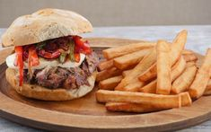 Food Hunter's Guide to Cuisine: Slow Roasted Pork #Sandwich With Double Fried French Fries
