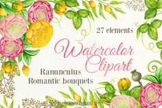 Watercolor DIY clipart by Maryna on @creativemarket