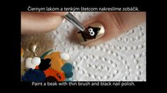 Owl Witch nail design for fall or halloween