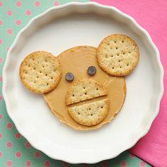 Cute Snack Idea: Monkey PB and Crackers