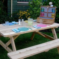 Whether you constructyour own from scratch or buy one and assemble it yourself, your family will get years of use out of your picnic table. Here are some ideas for getting the most of your picnic table.... at The Home Depot's Garden Club.