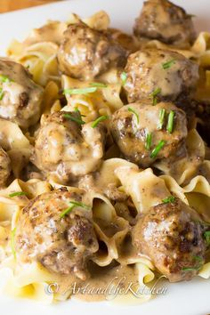 My family's favourite recipe for Swedish Meatballs! Delicious meatball recipe smothered in a rich, creamy gravy sauce, better than Ikea meatballs!
