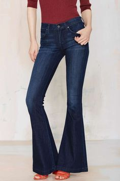 A Gold E Madison Ultra Flare Jeans | Shop Clothes at Nasty Gal!