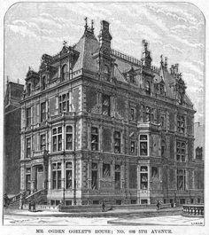 The Lost 1884 Ogden Goelet Mansion -- No. 608 Fifth Avenue