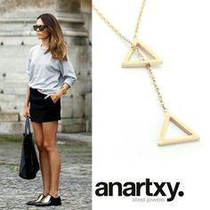 Anartxy  - Geometría   #JoyasEnAcero #JóiasEmAço #SteelJewel #estilo #style  www.anartxy.es