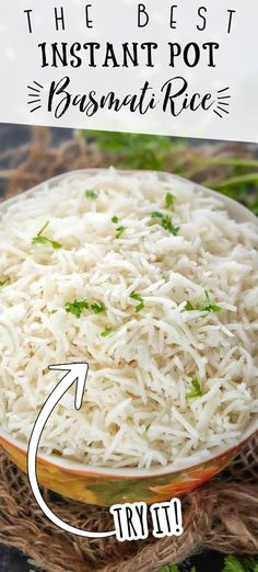 This recipe to make Instant Pot Basmati Rice works perfectly each and every time. The rice is fluffy, aromatic, and have separate grains. No more mushy and soggy rice guys! #IndianRecipes #RiceRecipes #InstantPotRecipes