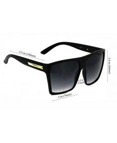 c18c895862e Elite Oversized Retro Wayfarer Aviator Flat Top Square Vintage Men Women  Sunglasses - Matte Black  Gold Arm - CJ17AYTIZE8