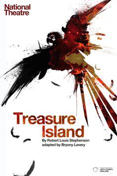Treasure Island poster art  illustration and design M Millington