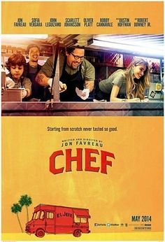 Synopsis Starting from scratch never tasted so good. Written by, directed by, produced by and starring Jon Favreau - Chef features an all-star cast including Sofia Vergara, Scarlett Johansson, John Leguizamo, Dustin Hoffman, Oliver Platt and Robert Downey Jr. When a chef who loses his restaurant job starts up a food truck in an effort to reclaim his creative promise, while piecing back together his estranged family.