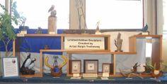 Ralph Trethewey -- wildlife sculpture in bronze, polymer, wood, and . . . pecan shells.