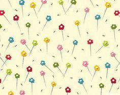 Sew What - Flowered Pins - Ivory Cream