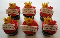 Off with her head cupcakes