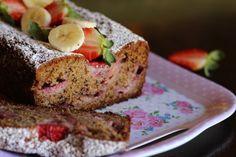 Banana strawberry bread