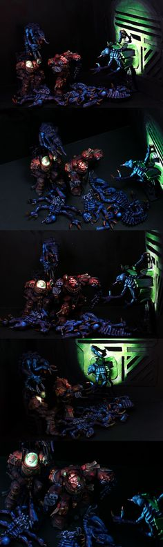 OSL Space Hulk Diorama - Brother Xephectel's Last Stand