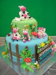 Inspiration for a Cow Cake and Cupcakes, Novelty Cakes. www.sweetsecretsdubai.com