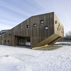Norwegian architects RRA have completed this wood-clad nursery school in Oslo, Norway.