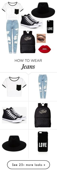"""Boyfriend jeans"" by simina650 on Polyvore featuring Topshop, WithChic, Converse, Vans, rag & bone, Lime Crime and Givenchy"