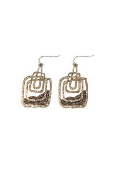 Shoptiques — Stacked Rectangle Earrings