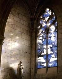 Stained glass window. François Rouan, Nevers Cathedral