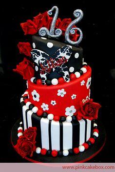 Sweet 16 Butterfly Rose Topsy Turvy Cake | http://www.pinkcakebox.com/sweet-16-butterfly-rose-topsy-turvy-cake/