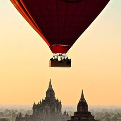 A surreal moment in Bagan, Myanmar. Photo courtesy of danflyingsolo on Instagram.