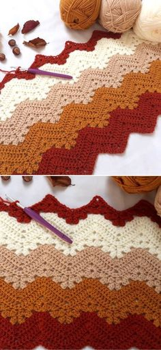 The best 6 day Kid Crochet Blanket Ideas – 1001 Patterns Crochet Fall, Halloween Crochet, Crochet For Kids, Free Crochet, Crochet Flower, Quick Crochet Blanket, Crochet Blankets, Afghan Crochet Patterns, Crochet Afghans