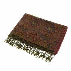 Jamawar Wool Scarf Women Accessories Neck Warmer Indian Costume